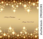 beautiful beige background with ... | Shutterstock .eps vector #298181081