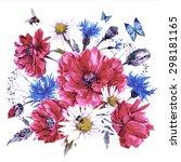 Vintage Watercolor Bouquet Of...