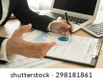 analyst are analyzing market... | Shutterstock . vector #298181861