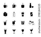 drink icons. beverages icons.... | Shutterstock .eps vector #298184135