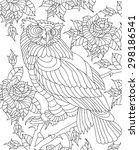 Hand Drawn Owl Coloring Page