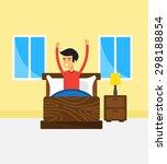 man wake up   vector... | Shutterstock .eps vector #298188854
