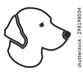dog head vector | Shutterstock .eps vector #298198034