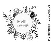 floral vector black and white... | Shutterstock .eps vector #298200701