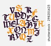 set gothic font. creative hand... | Shutterstock .eps vector #298201625