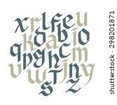 set gothic font. creative hand... | Shutterstock .eps vector #298201871