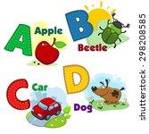 Colored Letter A B C D...