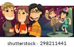 party people dancing and... | Shutterstock .eps vector #298211441