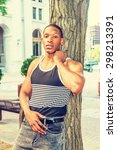 summer heat. man casual fashion....   Shutterstock . vector #298213391