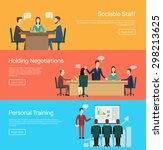 conference banner set with... | Shutterstock .eps vector #298213625