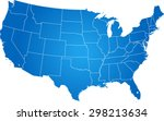 map of usa | Shutterstock .eps vector #298213634