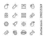bomb icons set. | Shutterstock .eps vector #298215269