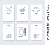 recipe cards collection with... | Shutterstock .eps vector #298217117