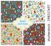 seamless children pattern. baby ... | Shutterstock .eps vector #298217657