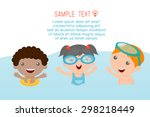 kids on the beach   kids... | Shutterstock .eps vector #298218449