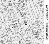 men fashion  seamless pattern... | Shutterstock .eps vector #298221695