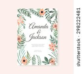 elegant wedding card design... | Shutterstock .eps vector #298222481