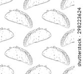 seamless pattern with hand... | Shutterstock .eps vector #298223624