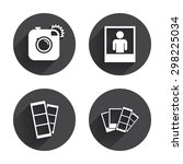 hipster photo camera icon.... | Shutterstock .eps vector #298225034