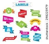 sale shopping labels. birthday... | Shutterstock .eps vector #298225979