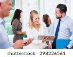 business people in office... | Shutterstock . vector #298226561