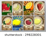 background with fruits | Shutterstock .eps vector #298228301