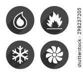 hvac icons. heating ...   Shutterstock .eps vector #298237205