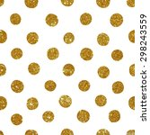 pattern with gold glitter... | Shutterstock .eps vector #298243559