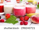 homemade fruity smoothies  ... | Shutterstock . vector #298243721