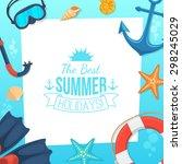 sea shore and swimming... | Shutterstock .eps vector #298245029