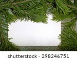 christmas tree branch and a... | Shutterstock . vector #298246751