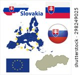 map of european union countries ...   Shutterstock .eps vector #298249025