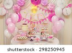 delicious sweet holiday buffet... | Shutterstock . vector #298250945