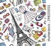summer fashion seamless pattern....   Shutterstock .eps vector #298253531