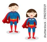 illustration superman and... | Shutterstock .eps vector #298255019
