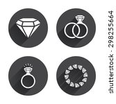 rings icons. jewelry with shine ... | Shutterstock .eps vector #298255664