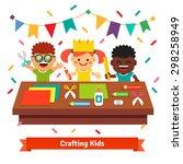 Kids Kindergarten Crafts. Happ...