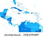central america map   highly... | Shutterstock .eps vector #298259489