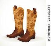 Embroidered Cowboy Boots...