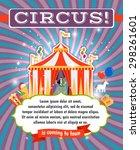 vintage circus  carnival or fun ... | Shutterstock .eps vector #298261601