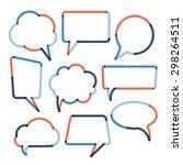 set of color transparent speech ... | Shutterstock .eps vector #298264511