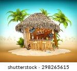 Bamboo Tropical Bar On A Pile...