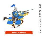 Armoured Medieval Knight Ridin...