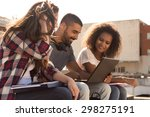 multi ethnic group of students... | Shutterstock . vector #298275191