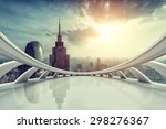 modern city skyline with empty... | Shutterstock . vector #298276367