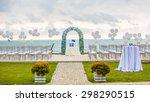 beach wedding set up  outdoor... | Shutterstock . vector #298290515