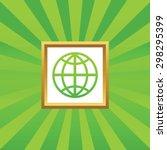 image of globe symbol in golden ...