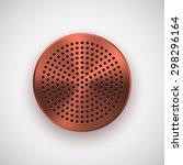 bronze abstract circle badge ...