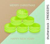 christmas tree made up of tasty ... | Shutterstock .eps vector #298303391