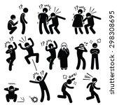 funny people prank playful... | Shutterstock . vector #298308695
